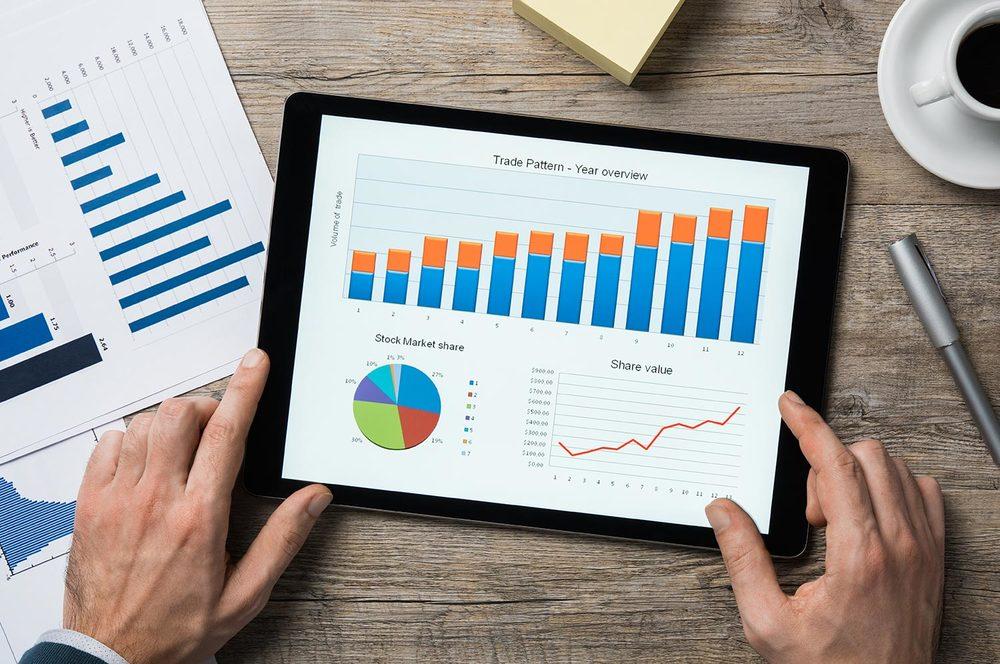 Prospetti e grafici per l'analisi dell'andamento economico